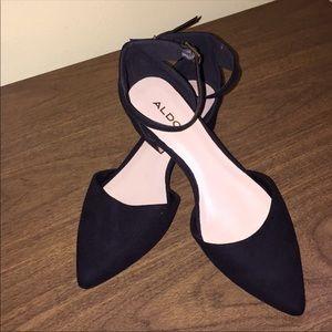 Aldo Suede Shoe with a Cuban Heel